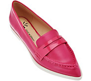 As Is Isaac Mizrahi Live! Leather Featherweight Penny Loafers - A287758