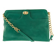 As Is Hobo Leather Farrah Shoulder Bag with Chain Detail - A290658