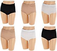 Jockey Elance Breathe Cotton 6-Pack Brief Panty Set - A291958