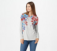 Studio by Denim & Co. Floral Print Long Sleeve Top - A296458