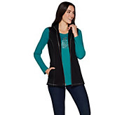 Quacker Factory French Terry Vest and Long Sleeve T-shirt Set - A296558