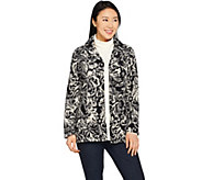 Susan Graver Weekend Printed Polar Fleece Jacket - A297158