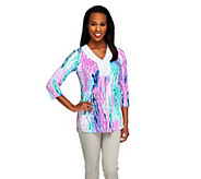 As Is Kelly by Clinton Kelly Printed Knit Tunic with Beaded Trim - A299358