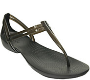 Crocs Huarache T-strap Sandals - Isabella T-Strap - A357958