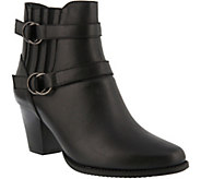 Spring Step Leather Double Strap Booties - Perilla - A360758