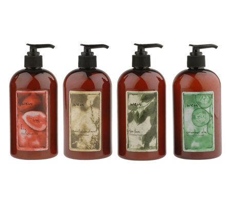 wen by chaz dean 4 pc deluxe cleansing conditioner set a7458 qvc