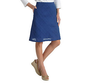 liz claiborne new york chambray a line skirt with pintuck