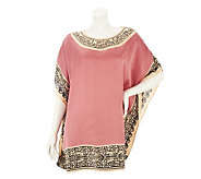 Nicole Richie Collection Border Placement Print Tunic - A233559