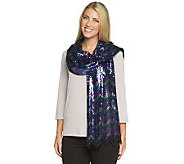 Joan Rivers Chevron Pattern Sequin Scarf - A236959