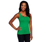 Susan Graver Essentials Scoop Neck Smoothing Tank - A252259
