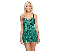 Fit 4 U Ds and Es Be Mine X-Back Swim Dress - A252559