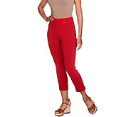 Susan Graver French Knit Crop Length Pull-on Jeggings - A254359