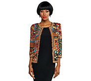 As Is Joan Rivers Moroccan Flair Jacket with 3/4 Sleeves - A256559