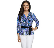 Bob Mackies Jubilee Print Wrap Top - A256959