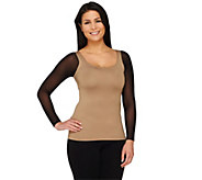 Secret Sleeve Reversible Long Sleeve Layering Top by Kelli Kouri - A260159