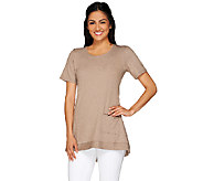 LOGO Lounge by Lori Goldstein French Terry Knit Top with Pocket - A263259