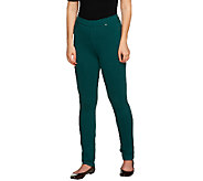 As Is Susan Graver Regular French Knit Jeggings - A263359