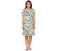 Isaac Mizrahi Live! Floral Print Sleep Dress - A263959