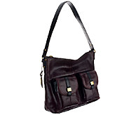 As Is Tignanello Glazed Vintage Leather Hobo w/ Cargo Pockets - A265159