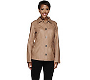 Dennis Basso Faux Leather Turn Key Jacket - A268059