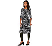 Women with Control Petite Printed Duster & Ankle Leggings Set - A274059