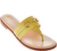 C. Wonder Leather Thong Sandals with Hardware - Annabelle