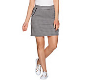 Denim & Co. Active Gingham Print Skort - A277659