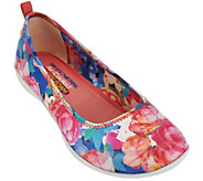 Skechers Floral Print Skimmers with Memory Foam - Sweet Bouquet - A277959