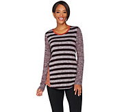 LOGO by Lori Goldstein Mixed Stripe Sweater Knit Top - A279459