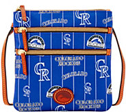 Dooney & Bourke MLB Nylon Rockies Triple Zip Crossbody - A281559