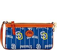 Dooney & Bourke MLB Nylon Padres Large Slim Wristlet - A281659