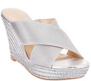 As Is Marc Fisher Criss Cross Espadrille Wedges - Engage - A284059