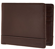 LODIS Mens Italian Leather RFID Bi-fold Wallet - A286159