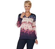 As Is Kelly by Clinton Kelly Georgette Blouse with Poet Sleeves - A289959