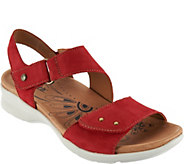 Earth Nubuck Leather Adjustable Sandals - Peak - A290159