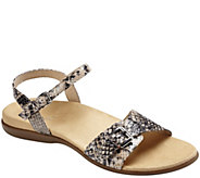 As Is Vionic Orthotic Leather Ankle Strap Sandaals - Alita - A290359