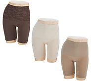 Breezies Seamless Long Leg Control Panties Set of Three - A292259
