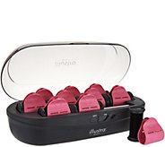 Illustra Beauty Set of 10 Ultra-Fast Heating Hot Rollers w/Clips - A296359