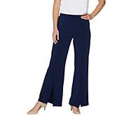 Susan Graver Liquid Knit Split Leg Pants - Petite - A301159