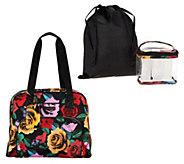 As Is Vera Bradley Travel Bag w/ 3-1-1 Cosmetic Bag - A303159
