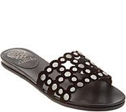 Vince Camuto Leather Studded Slide Sandals - Ellanna - A306359