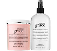philosophy grace & love luminous body creme & spritz fragranced duo - A309259