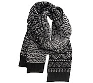 MUK LUKS Mens Patterned Scarf - A334659