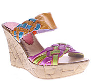 Azura by Spring Step Braided Leather Wedges - Mania - A336759