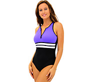 Fit 2 Swim Hi Neck Tank Swimsuit - A337059