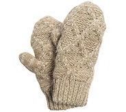 MUK LUKS Womens Textured Diamond Potholder Mittens - A337559
