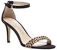 Sole Society Leather Sandals - Dace Leopard - A339659