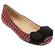 Isaac Mizrahi Live! Flats with Bow Detail - A227060