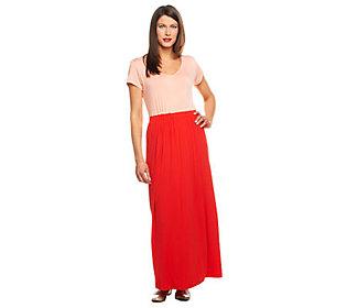 Isaac Mizrahi Live! Regular Color-block Knit Maxi Dress
