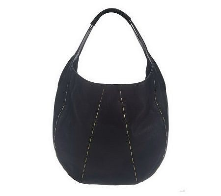"As Is"" Kelsi Dagger Leather Charlie Hobo with Snake Chain Detail"